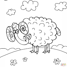 cute ram coloring page free printable coloring pages