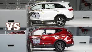 kia sorento vs hyundai santa fe crash test 2017 hyundai santa fe sport vs 2016 kia sorento