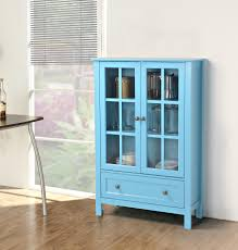 single glass door cabinet homestar homestar 2 door 1 drawer glass cabinet by oj commerce