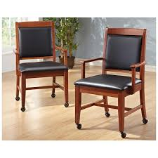 Wooden Office Chairs With Casters Trend Dining Chair With Casters For Office Chairs Online With