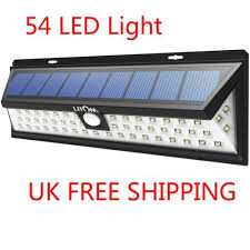Solar Powered Wall Lights Uk - 54 led solar powered motion sensor light outdoor garden wall lamp