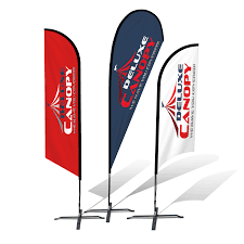 custom pop up canopies flags table covers display