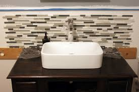 Bathroom Backsplash - Bathroom sink backsplash