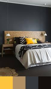 deco chambre jaune tendance couleur chambre à coucher unique jaune gris et chambres