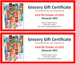 gift voucher samples ms word grocery gift certificate template word u0026 excel templates