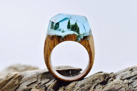 these wooden rings hold tiny landscapes mental floss