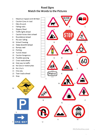 58 free esl signs worksheets