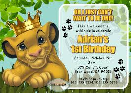 lion king birthday invitations lion king birthday invitations for