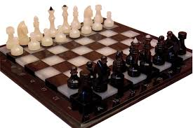natural onyx and obsidian chess set stone chess set table