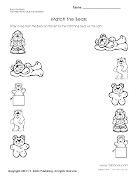 Preschool Worksheet Match The Bears Preschool Worksheet English Class Pinterest