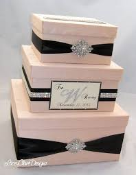 wedding gift boxes wedding gift box bling card box blush pink wedding box