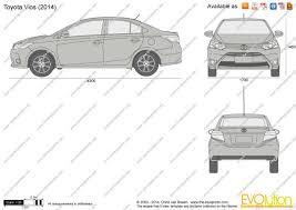 toyota yaris sedan 2015 the blueprints com vector drawing toyota yaris sedan