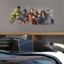 cartoon wall stickers decals sticker shop avengers age ultron distressed giant wall graphic