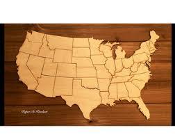 us map puzzle wood usa puzzle etsy