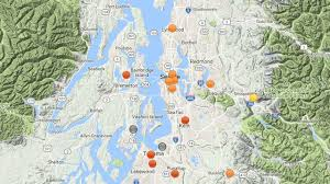 Seattle Weather Map by Check The Air Quality Around Puget Sound King5 Com