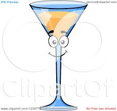 martini shaker clipart clipart of a cartoon happy champagne cocktail royalty free