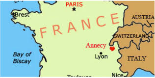Annecy France Map by France