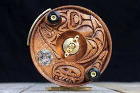 5 wood reel orca salmon moon artist series peetz outdoors