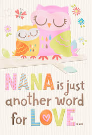 two owls nana means love grandparents day card greeting cards