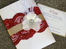 vintage glamour deep red and gold lace pocketfold wedding
