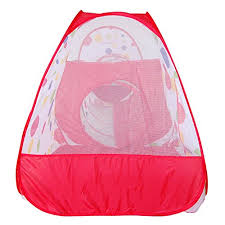 jacone kids play tent tunnel ball pit with basketball hoop 3 in 1