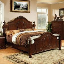 shop furniture of america velda warm cherry california king low
