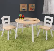 kidkraft round table and 2 chair set kid kraft round table 2 chair set white natural 27027 kids