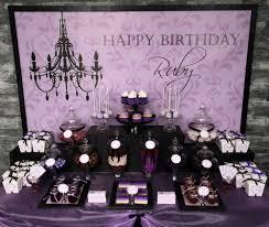 Engagement Party Decoration Ideas Home Purple U0026 Black U0027sophisticated Tween U0027 Birthday Party Ideas