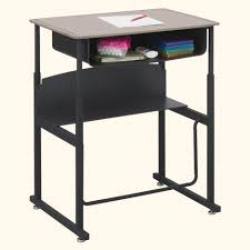 stand up l with shelves 1202be alphabetter student stand up desk 20 x 28 with book box l