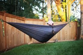 dark grey water resistant double wide parachute hammock u2013 tree cradle