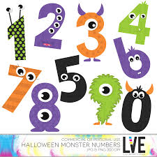 cute monsters numbers clip art halloween clipart monster clipart