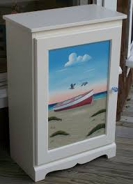 Beach Decor Furniture Hand Painted Furniture Coastal Cottage Beach Home Living Decor
