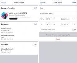 facebook begins testing résumé u0027work histories u0027 feature on mobile
