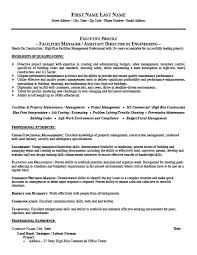 Lead Resume Facilities Manager Resume Berathen Com