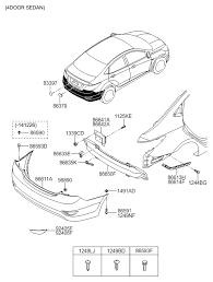 hyundai accent parts catalog rear bumper for 2015 hyundai accent hyundai parts deal