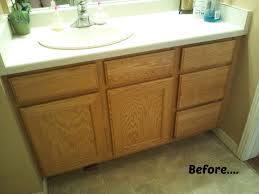 Repainting The Vanity Bathroom Cabinets Diy Painting Walls Vanity Best Paint For
