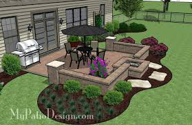 square fire pits designs patio stamped concrete patio designs with fire pit brick patio