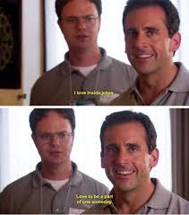 Blank Meme Generator - michael scott i love inside jokes blank template imgflip