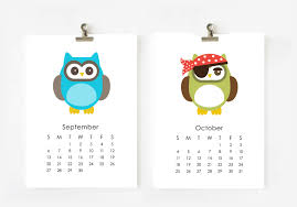 2017 owls calendar digital 5x7 digital files