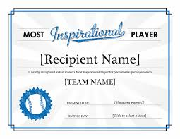 award certificate template microsoft word most improved player