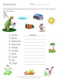 word scramble summer fun free esl worksheet