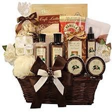bath gift baskets essence of luxury warm vanilla spa bath and gift basket set