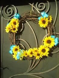 sunflower ribbon ukrainian sunflower ribbon wreath ribbon obsession