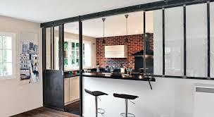 ouverture entre cuisine et salle à manger cuisine ouverte une verrière en mode coulissant cuisine