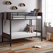 select luxury flippable 6 inch white bunk bed twin size foam