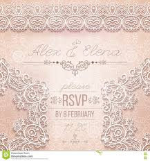 Borders For Invitation Cards Free Vintage Wedding Card Or Invitation With Abstract Lace Seamless