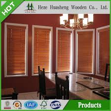 Cheapest Wood Blinds Solid Paulownia Wood Blinds Supplier China Ready Made Wooden