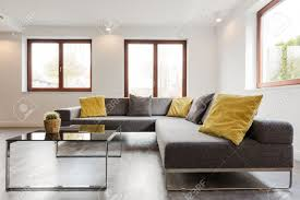 large glass coffee table large corner sofa and glass coffee table in a very modern and