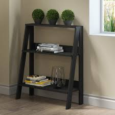 Ladder Bookcase Black by Walker Edison Furniture Company 30 In Wood Ladder Bookshelf