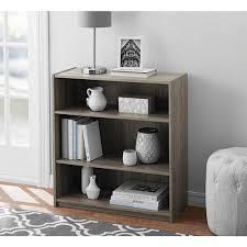 mainstays 3 shelf bookcase furniture set of 2 storage bookshelf